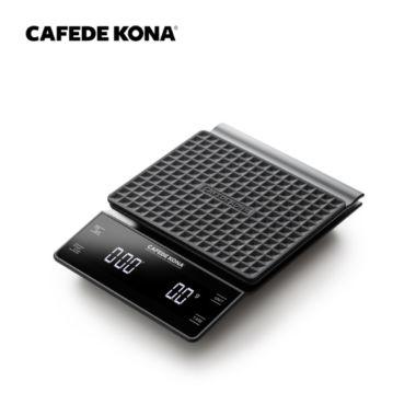 Весы электронные CAFEDE KONA светодиодный дисплей, таймер и противоскользящая поверхность, черные