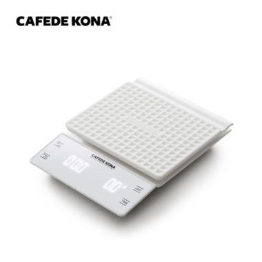 Весы электронные CAFEDE KONA светодиодный дисплей, таймер и противоскользящая поверхность, белые