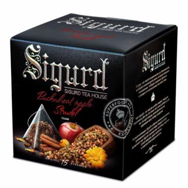 Чайный напиток SIGURD Гречишный яблочный штрудель 15 пирамидок по 2г